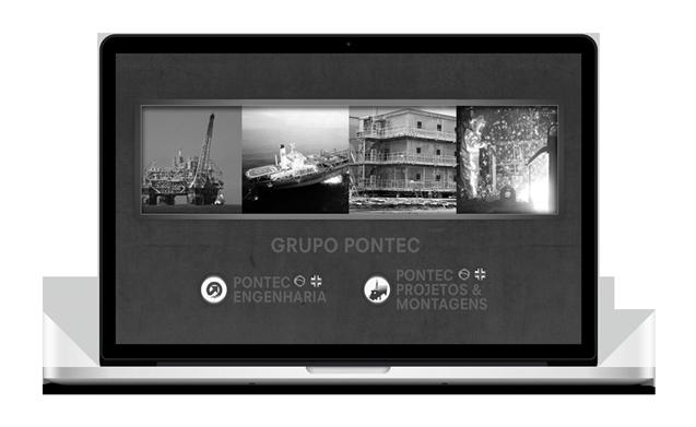 Página Principal do Website, com acesso aos dois grupos da empresa